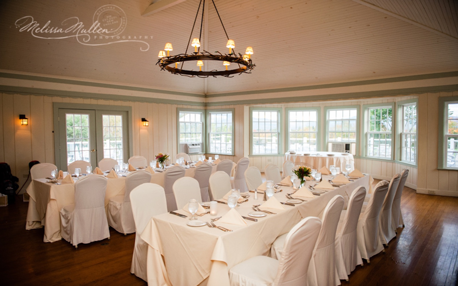 Clubhouse with wedding decor